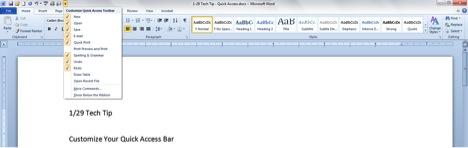 1-29-14 Customize Your Quick Access Bar -screen shot 1