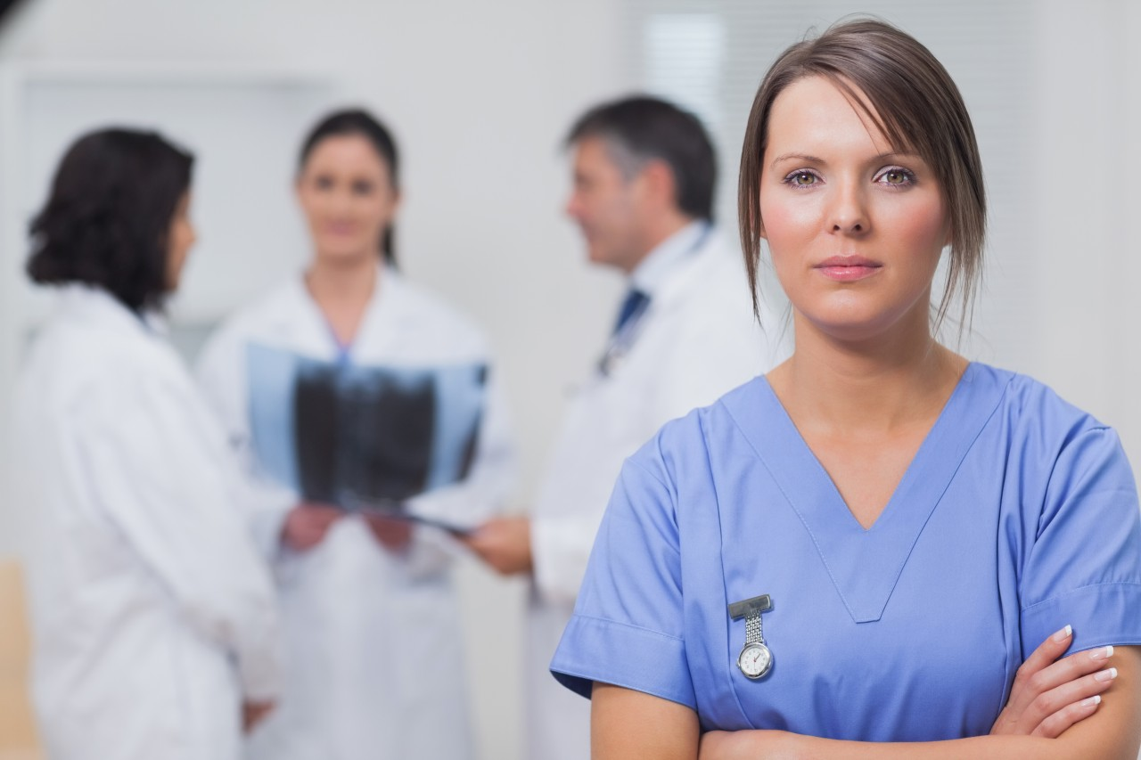 Sad Nurse Stock Photo - Image: 43821300