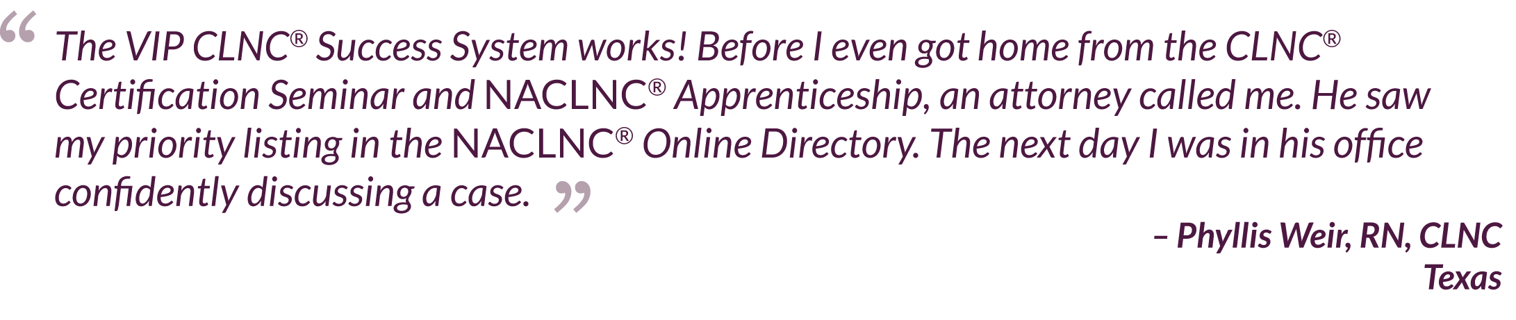 VIP CLNC® Success System Testimonial