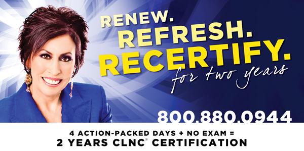 Renew. Refresh. Recertify.