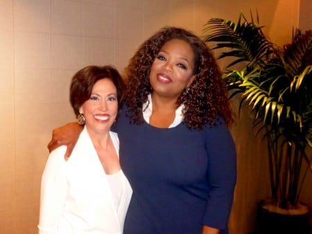 Vickie Milazzo and Oprah Winfrey