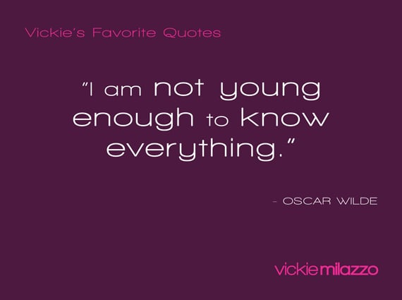 Vickie's Favorite Quotes: Oscar Wilde