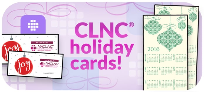 Certified Legal Nurse Consultant holiday cards