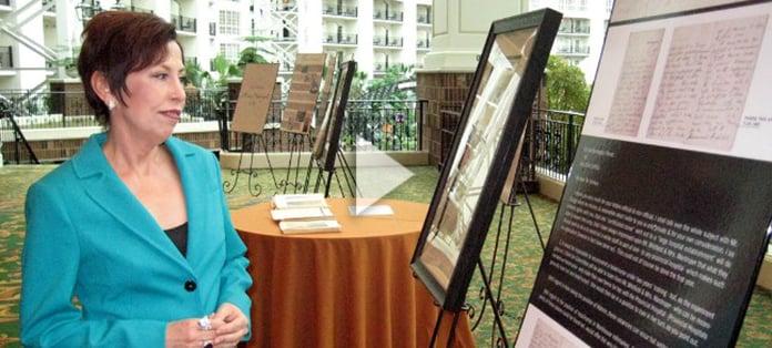 Vickie Milazzo at Florence Nightingale exhibit