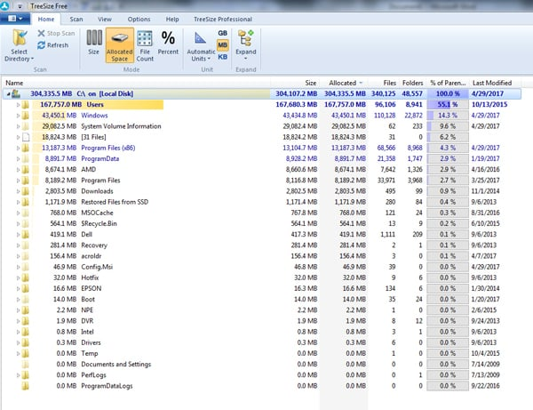 Tom's Tech Tip: Here's a Handy Tool for Certified Legal Nurse Consultants to Find Out What's Filling Up Your Disk Space