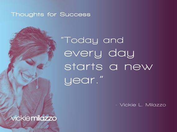 Thoughts for Success: Today and Every Day Starts a New Year